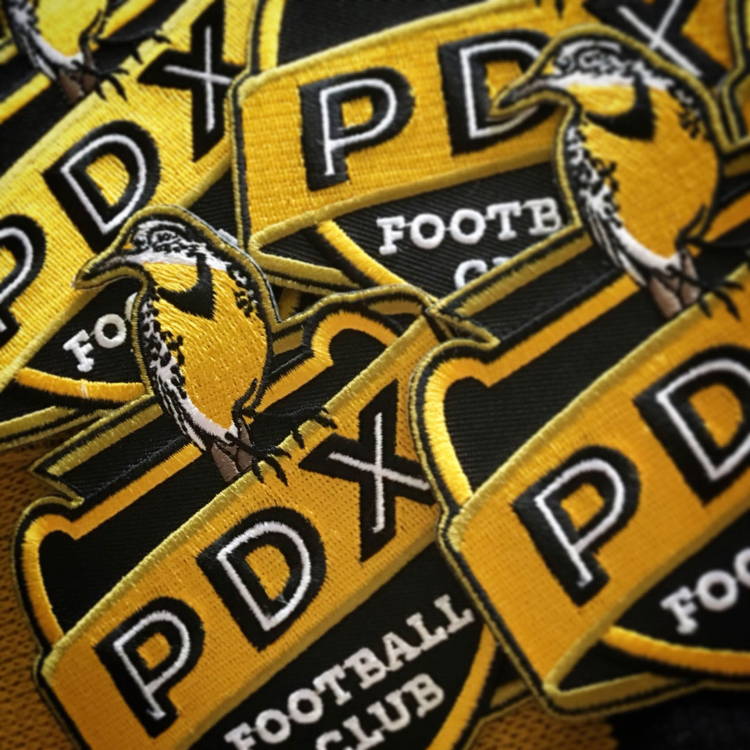 pdx football club soccer badge patches brand identity