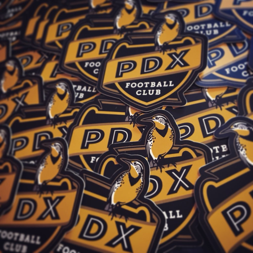 pdx football club soccer badge stickers brand identity
