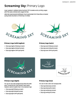 Screaming Sky brand standards guide