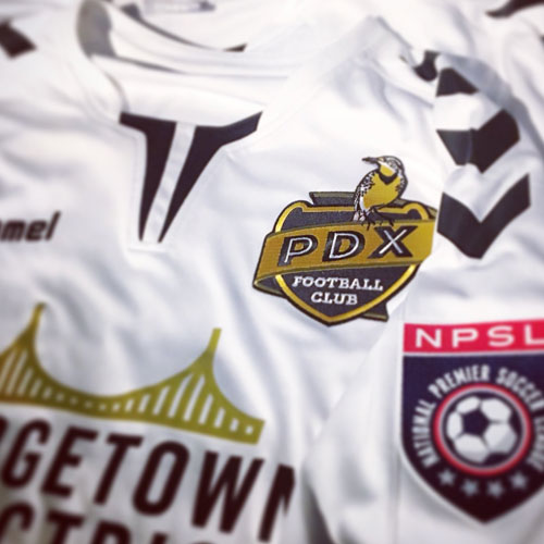 PDX FC soccer club badge design