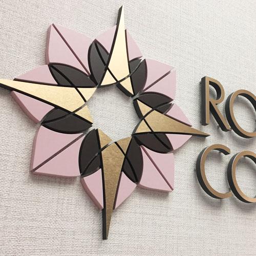 Rose & Compass Sheraton restaurant logo design