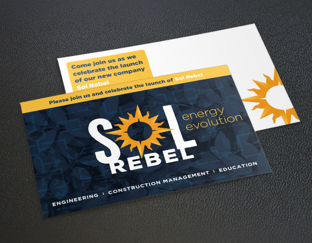 solar power - Sol Rebel postcard design