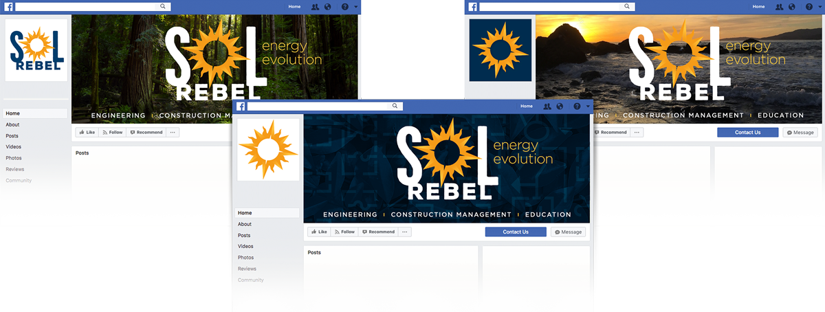 Sol Rebel solar Facebook  design covers