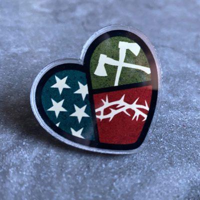SCUSA Heart pin