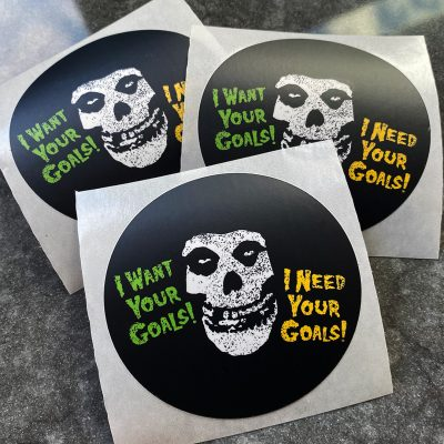 I Want Your Goals stickers
